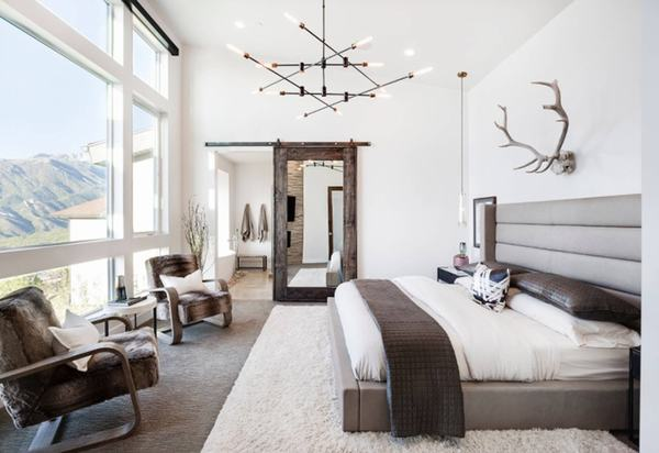 Một thiết kế đặc biệt sáng tạo cho căn phòng ngủ của bạn là cửa gỗ kéo