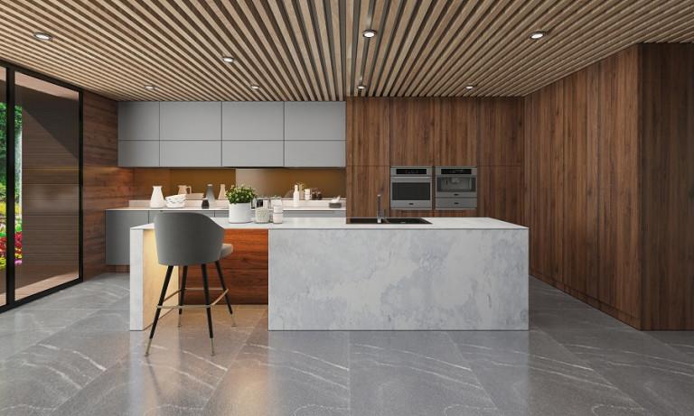 Vì sao người Mỹ chọn đá gốc Thạch Anh cho căn bếp hiện đại