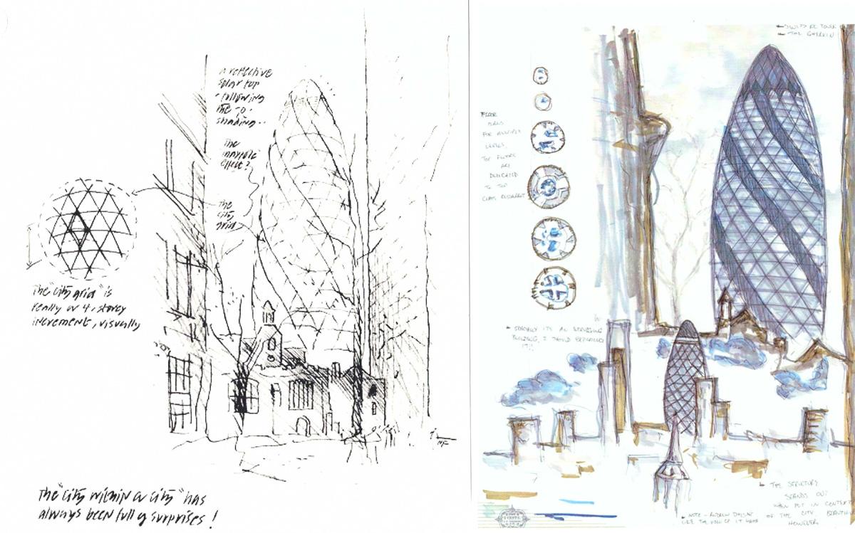 Những sơ phác của KTS Norman Foster 19A06020 TCKT 08
