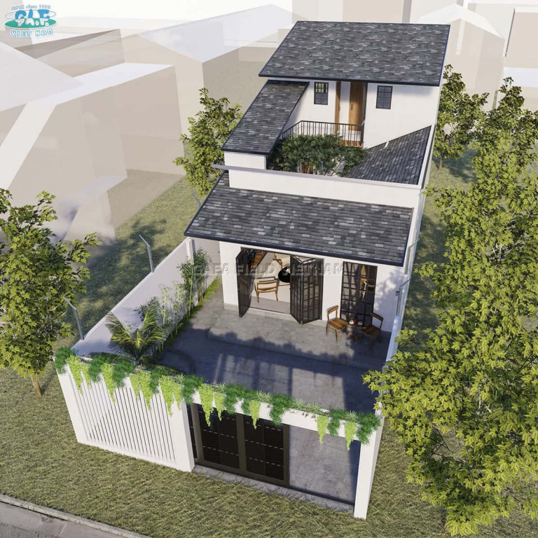 An nhiên tại không gian kiến trúc mở của nhà vườn ven biển Lộc An