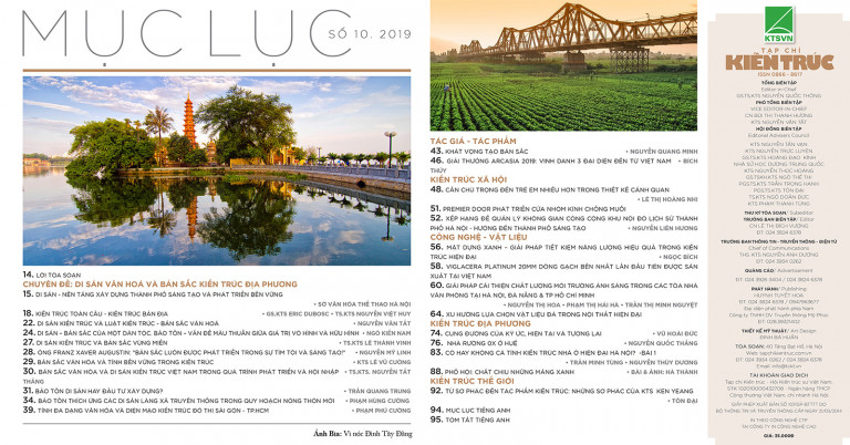 Tạp chí Kiến trúc số 10 - 2019