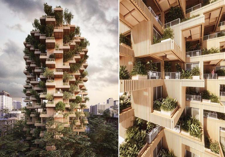 Không guan tòa nhà xanh dưới bàn tay kiến trúc tài hoa của KTS Chris Precht