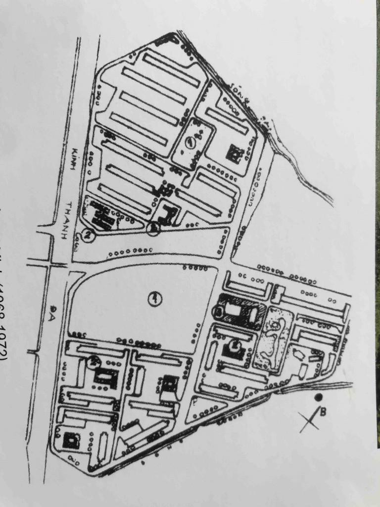 Hình 1a. Mặt băng Khu chung cư Thanh Đa (1968-1972)