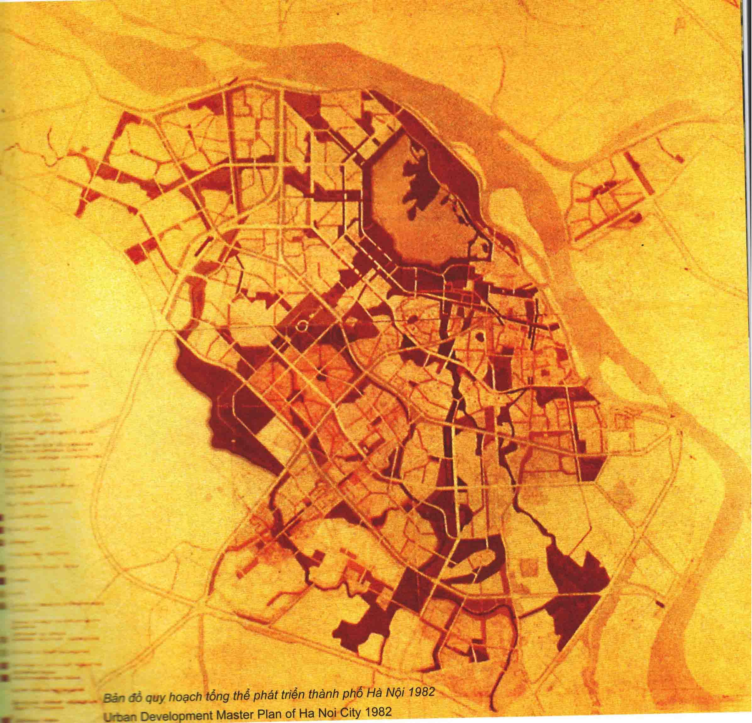 Hình 7. Đồ án quy hoạch thủ đô Hà Nội, 1982 (Liên Xô giúp)