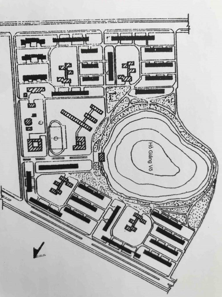 Hình 5a. Khu tập thể Giảng Võ, Thiết kế của Viện Nhà ở Hà Nội (1980)