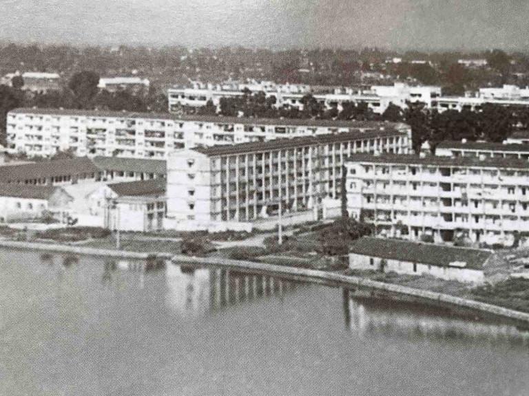Hình 5b. Kiến trúc nhà ở Khu tập thể Giảng Võ, Thiết kế của Viện Nhà ở Hà Nội (1980)