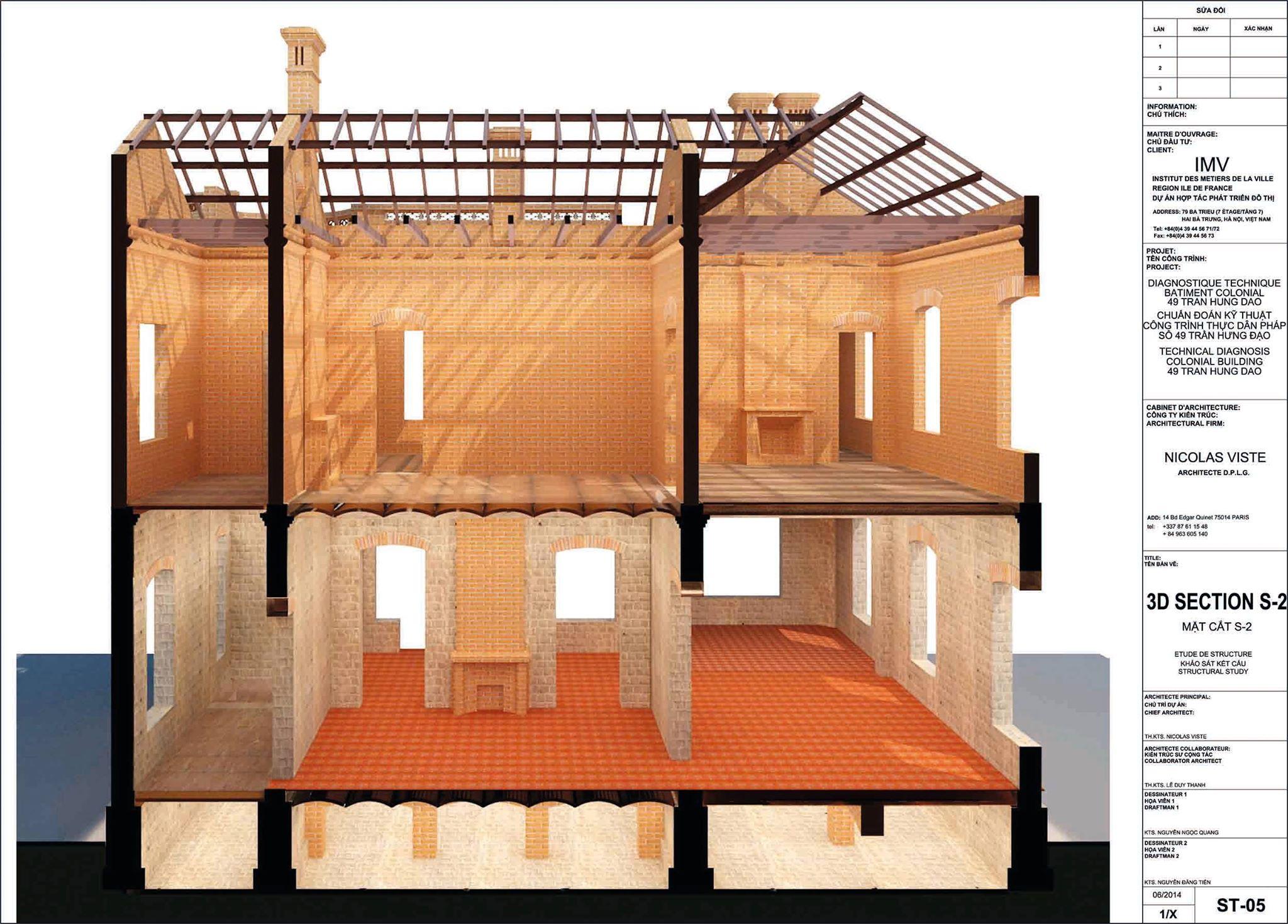 Dự án cải tạo Biệt thự 49 Trần Hưng Đạo - Viện PRX - Cơ quan hỗ trợ hợp tác quốc tế vùng Paris tại Việt Nam