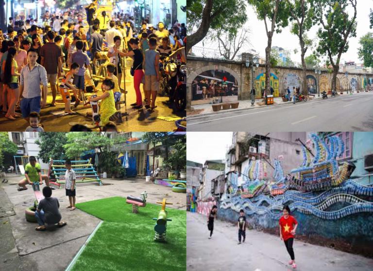 Sân chơi trên phố cổ , KGCC bên Dự án Nghệ thuật Phùng Hưng, sân chơi cộng đồng dân cư phường Chương Dương , sân chơi bên dự án Nghệ thuật Phúc Tân