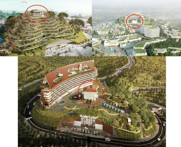 Các phương án quy hoạch không gian đồi Dinh đều nhấn mạnh đến việc hình thành một khu khách sạn phức hợp lớn trong khu vực - Ảnh: BTC