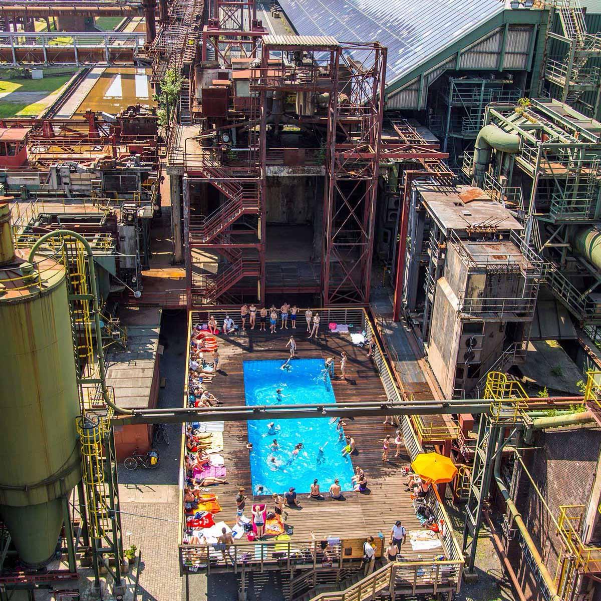 Khu công nghiệp khai thác than đá Zeche Zollverein Essem, ĐỨc ngày nay. [Nguồn: internet]