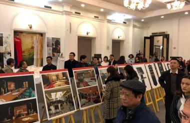 Triển lãm giới thiệu Đề án Làng nghề may - Du lịch Làng Cựu do Khoa Kiến trúc và Quy hoạch - ĐH Xây dựng và DESK Ivtalia tổ chức (Ảnh Internet)