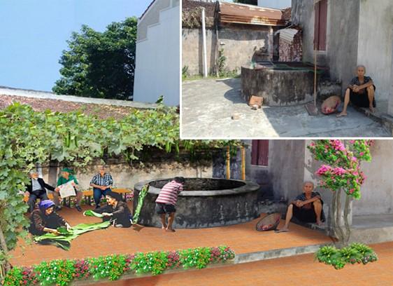Giếng làng Hương Ngải trước và sau cải tạo, chỉnh trang