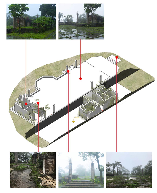 Hình 6: Phối cảnh 3D và ảnh hiện trạng công trình - nhà đại tá