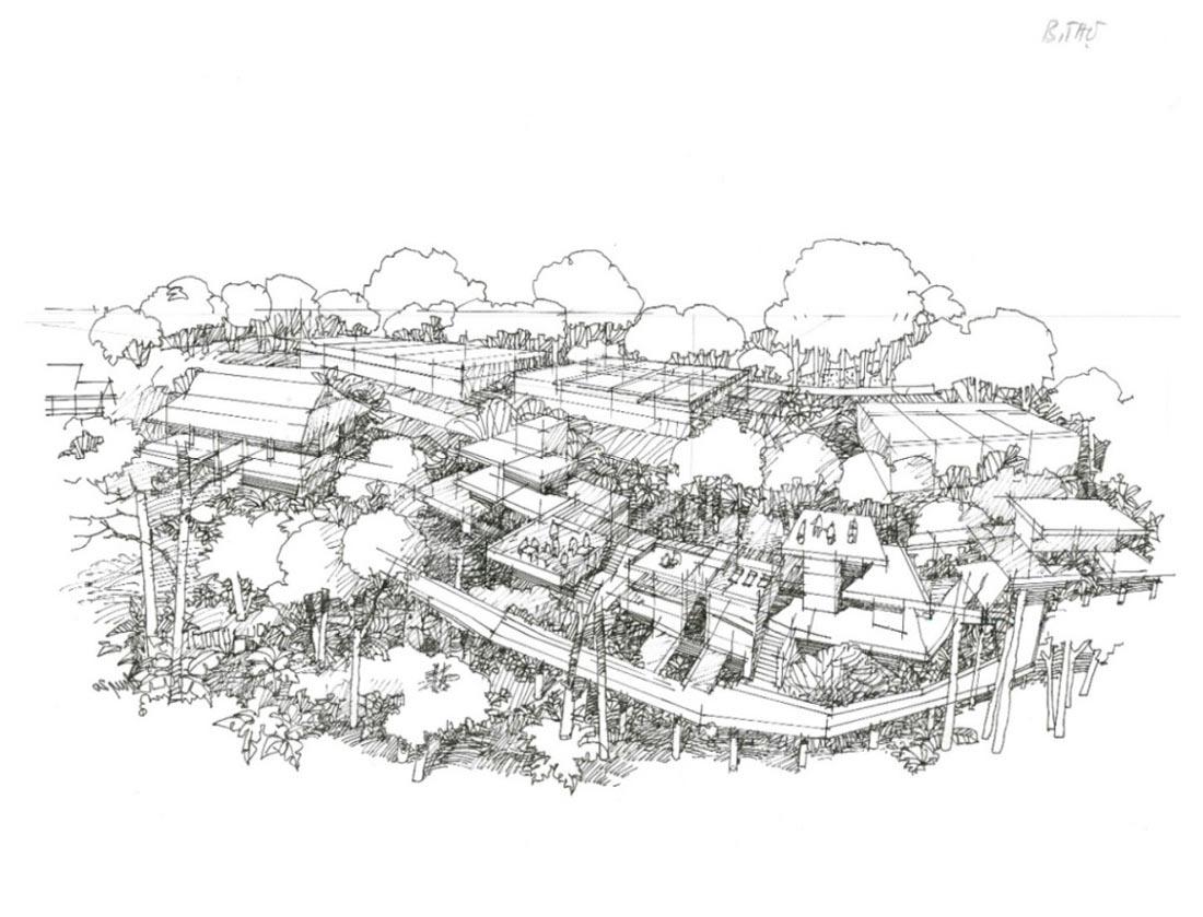 Hình 10. Xây dựng khu nghỉ dưỡng cao cấp tại khu vực đồi thông (Vườn trẻ thời Pháp) ở cốt 600m [7]