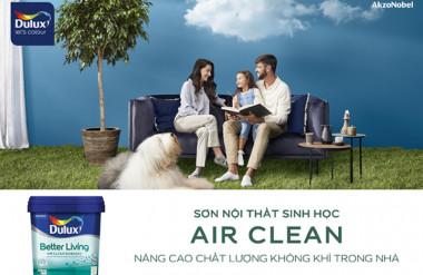Dulux Air Clean – dòng sơn nội thất gốc sinh học đầu tiên tại Việt Nam giúp cải thiện chất lượng không khí trong nhà