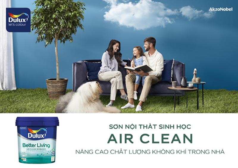 Dulux Air Clean - dòng sơn nội thất gốc sinh học đầu tiên tại Việt Nam giúp cải thiện chất lượng không khí trong nhà
