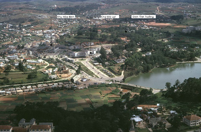 Hình 8: Khu trung tâm Đà Lạt 1967 phủ một màu xanh mướt (Ảnh: Phillip M. Kemp)