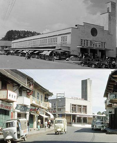 Hình 11: Khu Marché những năm 1950 và xây dựng lại vẫn giữ được nét tương đồng với khu chợ cũ (ảnh: Tư liệu tạp chí Đà lạt)
