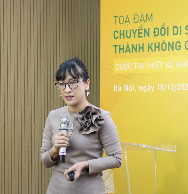 PGS.TS.KTS Phạm Thuý Loan Phó Viện Trưởng Viện Kiến trúc Quốc gia