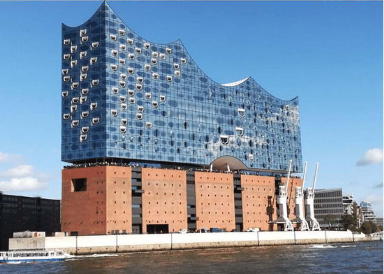 Hình 8: Phòng hòa nhạc Elbphilharmonie, Hamburg, Đức