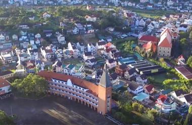 Toàn cảnh thành phố Đà Lạt.
