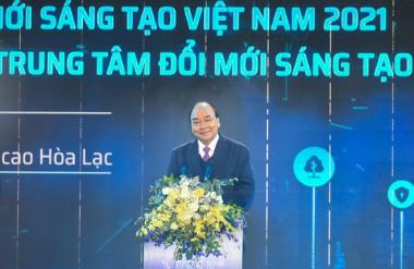 Thủ tướng Nguyễn Xuân Phúc phát biểu chỉ đạo tại lễ khởi công NIC ẢNH QUANG HIẾU