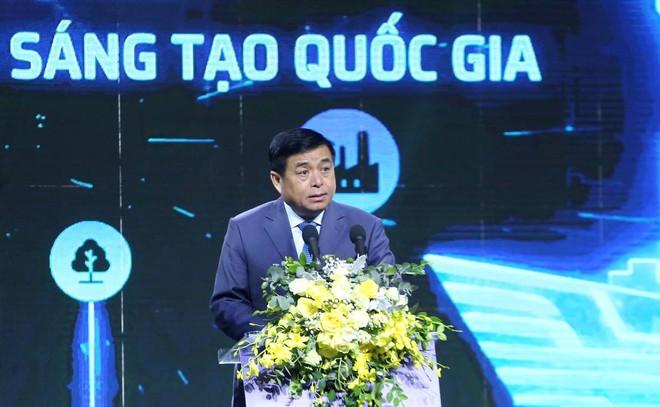 Bộ trưởng KH-ĐT Nguyễn Chí Dũng phát biểu tại lễ khởi công NIC ẢNH QUANG HIẾU