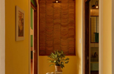 Các đồ trang trí trong nhà như chậu cây hình con voi do người vợ tự tay sưu tầm.