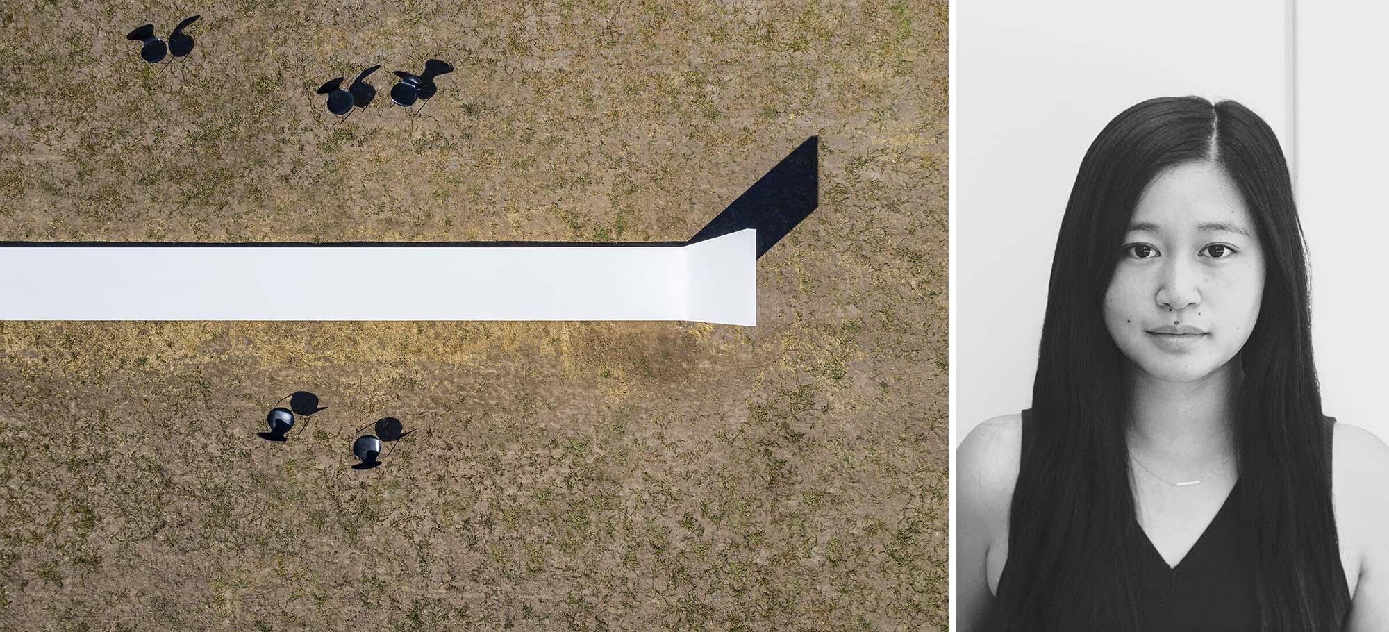 Trái: The Line, Lockeford, CA, Người chiến thắng trong Giải thưởng A + 2020 ở hạng mục Pop Up & Temporary; Phải: Julia Lewis qua REGroup.