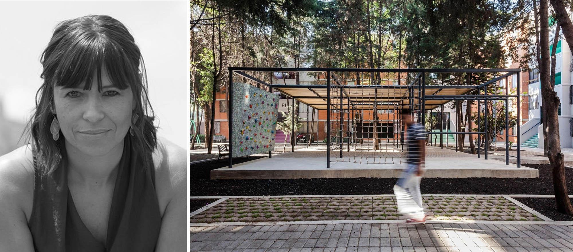 Trái: Rozana Montiel, ảnh qua Archdaily; Phải: COMMON-UNITY, một dự án cải tạo công cộng ở Thành phố Mexico, ảnh qua Metalocus