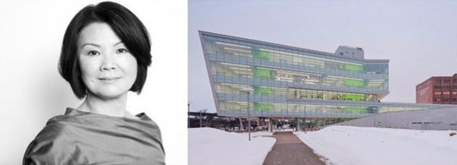 Bên phải: Trung tâm Xuất sắc, Đại học Syracuse; hình ảnh qua Đại học Harvard và Tạp chí Azure