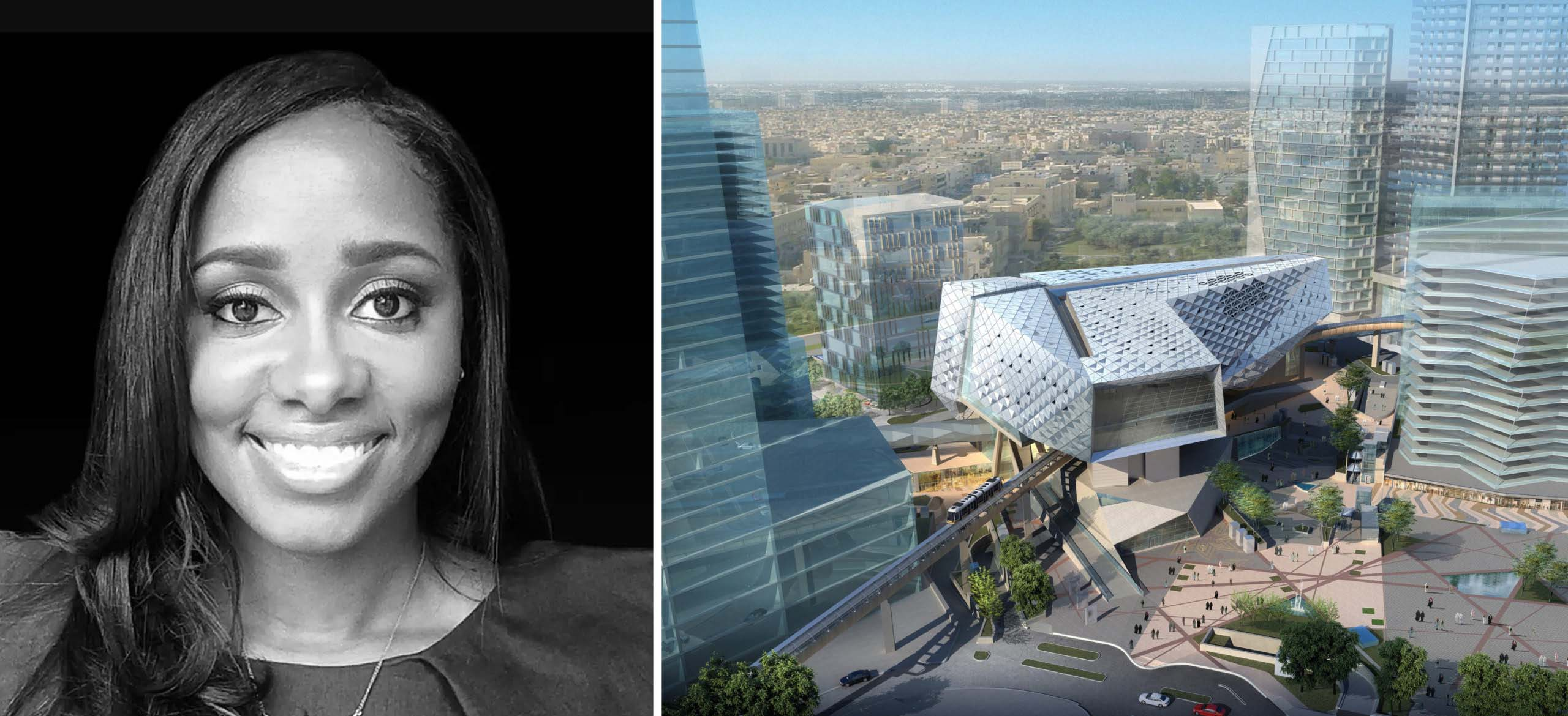 Trái: Pascale Sablan, hình ảnh qua AIA; trái: Bảo tàng Môi trường được Xây dựng bởi FXCollaborative Architects, Riyadh, Saudi Arabia; hình ảnh của FXCollaborative Architects