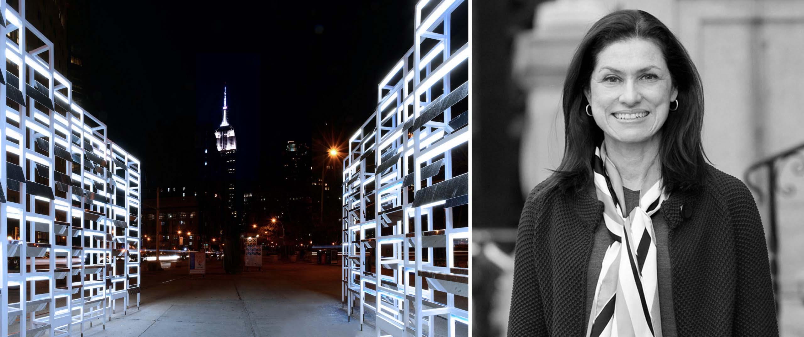 Trái: New York Light, New York, NY; Phải: Suzan Tillotson của Trường Cao đẳng Nghệ thuật và Thiết kế LSU