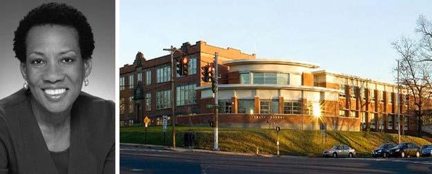 Trái: Roberta Washington; Bên phải: Trường Nam châm Môi trường Barnard; hình ảnh qua Roberta Washington Architects