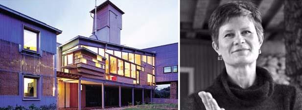 Bên trái: Nhà Bale Rơm; hình ảnh: Tạp chí Kiến trúc và Thiết kế Xây dựng