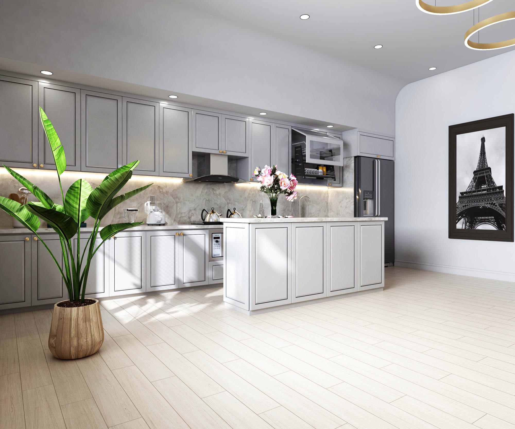 Ảnh 5: Gạch Slimtech trong không gian nhà ở sang trọng, hiện đại