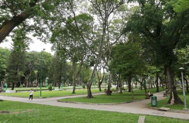 Công viên Lê Thị Riêng (quận 1). (Ảnh: Thanh Vũ/TTXVN)