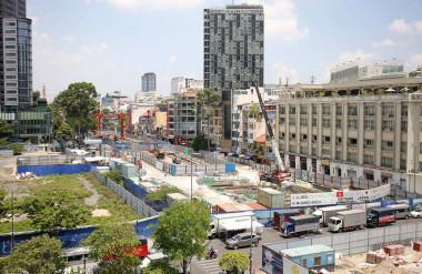 Tuyến metro số 1 sẽ hoàn trả mặt bằng đường Lê Lợi vào cuối năm nay ẢNH: NGỌC DƯƠNG