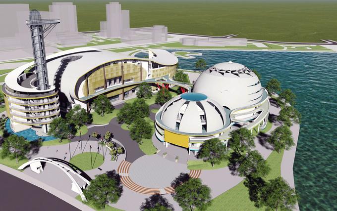 Dự án Cung Văn hóa Thiếu nhi Hà Nội mới được xây dựng Khu công viên hồ điều hòa CV1 (khu đô thị mới Cầu Giấy, quận Nam Từ Liêm)