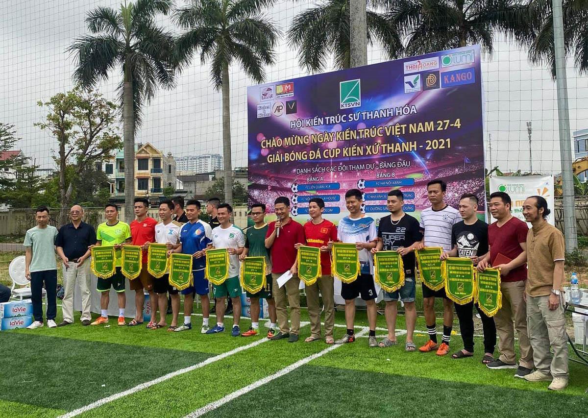 Giải bóng đá Cúp Kiến xứ Thanh chào mừng ngày Kiến trúc Việt Nam