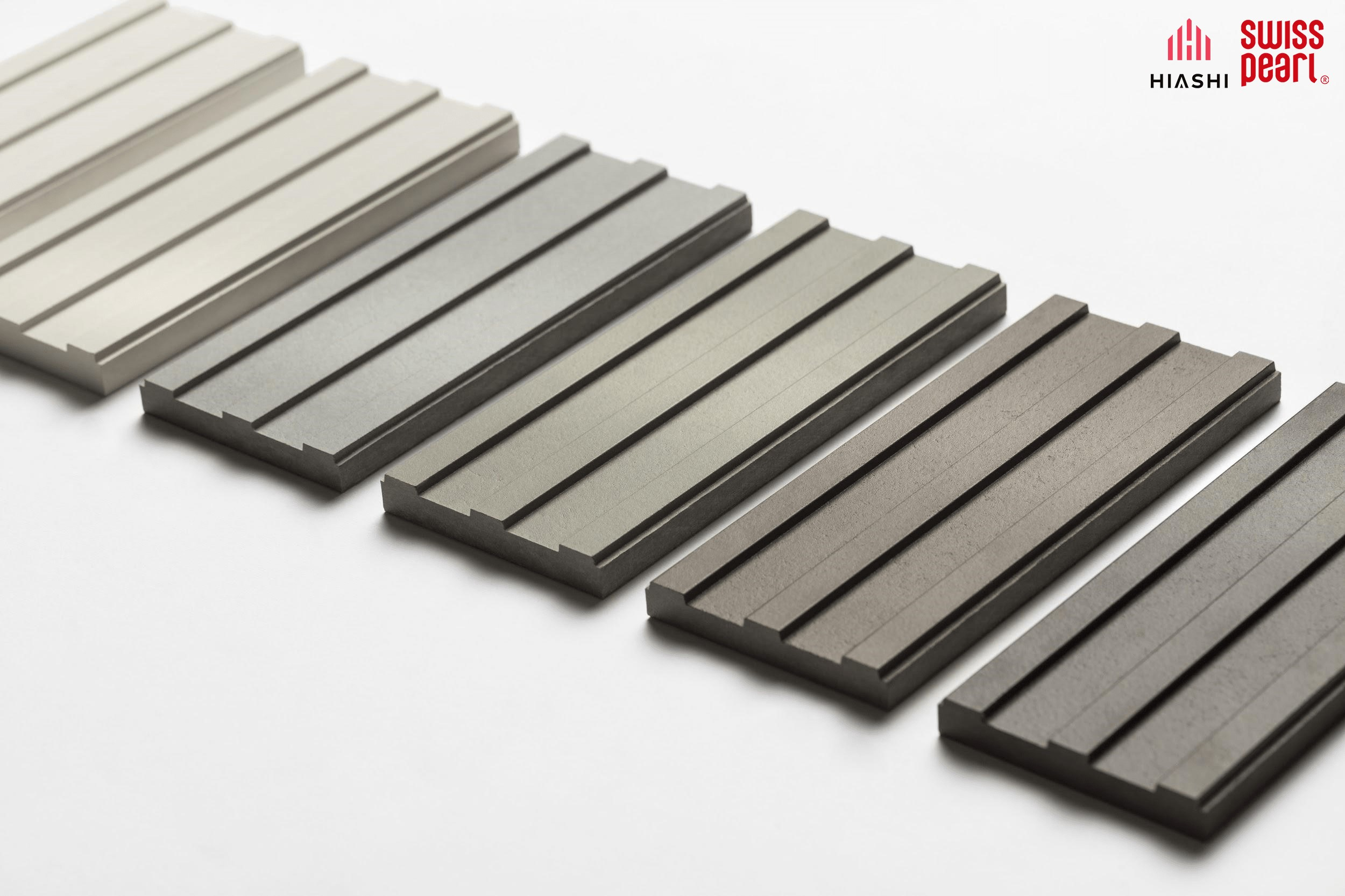 Dòng sản phẩm Swisspearl Gravial rãnh 3D ấn tượng.