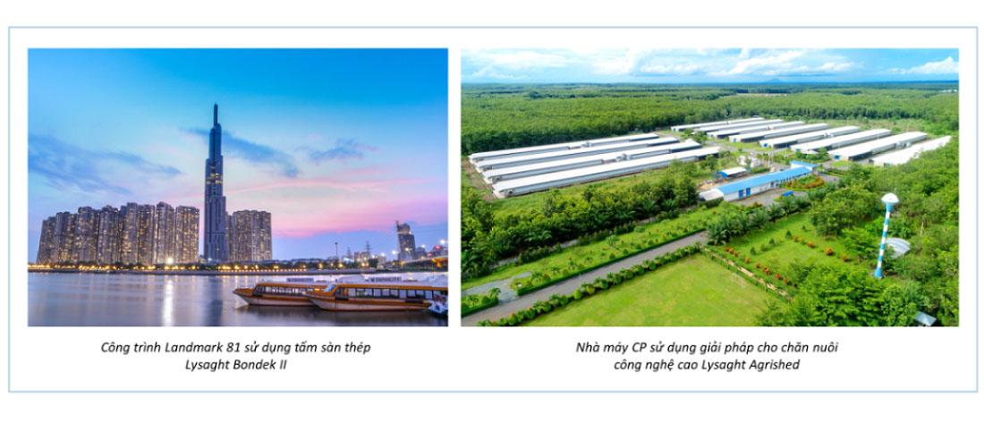 Nhiều công trình tiêu biểu tại Việt Nam đang sử dụng thép cán nguội từ NS BlueScope Lysaght