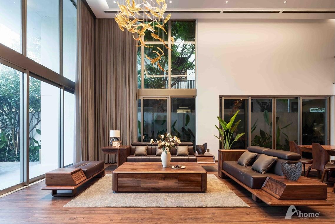 Phòng khách hiện đại thiết kế tối giản nhưng toát lên vẻ sang trọng