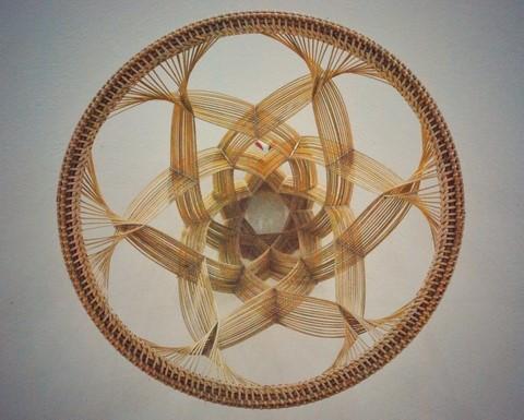 Tác phẩm mây tre đan tạo hình 3D.