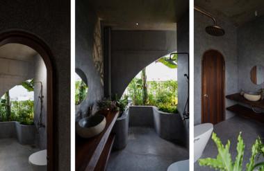 Các nhà vệ sinh khác cũng có những mảnh vườn bên trong.