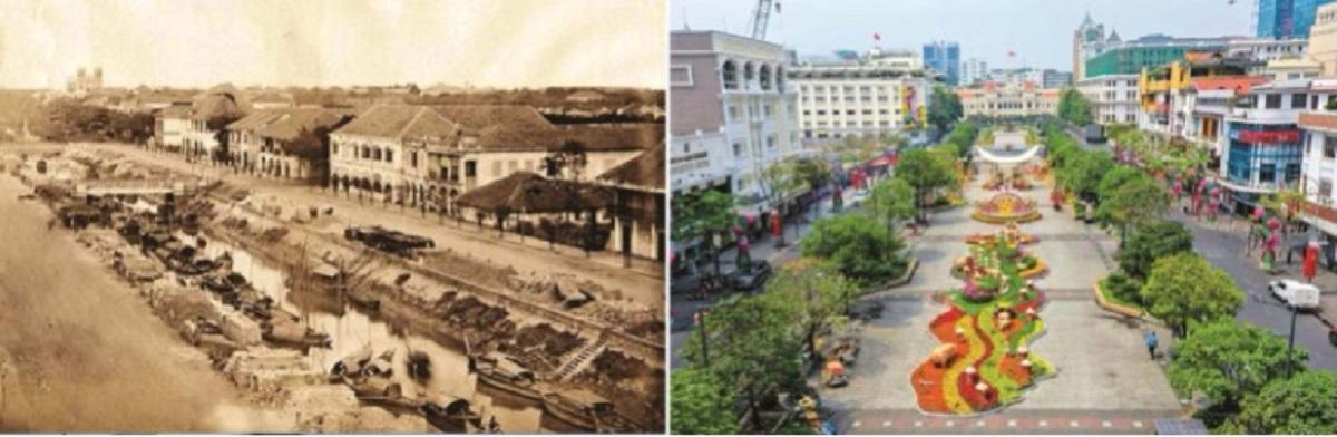 Lớp mặt cắt qua các giai đoạn 1790-1835 của phố đi bộ Nguyễn Huệ thể hiện sự biến đổi về mặt xã hội làm thay đổi diện mạo, hình thành một lối sống mới và dẫn đến sự mai một của bản sắc cũ.