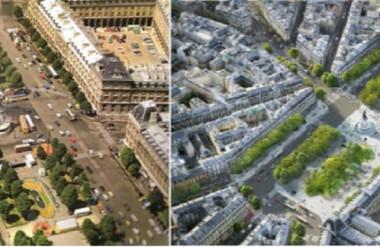 Quảng trường Republique Pháp giai đoạn 1879-2013 cho thấy cấu trúc giống khu Nguyễn Huệ quận 1, TP.HCM. Khi không còn tổ chức giao thông, hai phần KGCC liên kết thành quảng trường rộng cho nhiều hoạt động đa dạng.