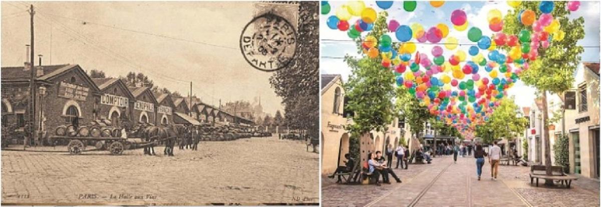 Trước và sau cải tạo, bình cũ rượu mới khi Entrepot de Vins ở Bercy được cải tạo lại thành một trung tâm thương mại, văn hóa, đánh dấu cho việc bước vào thời kỳ văn hóa đương đại của khu vực này