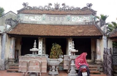 Khuôn viên nhà thờ họ Lê Đình thôn Chung Chính