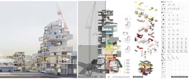 Nghiên cứu thiết kế mô hình nhà ở theo mô hình chung cư cao tầng, thi công bằng phương pháp lắp ghép giúp giảm giá thành và tiện nghi tại Hoa Kỳ